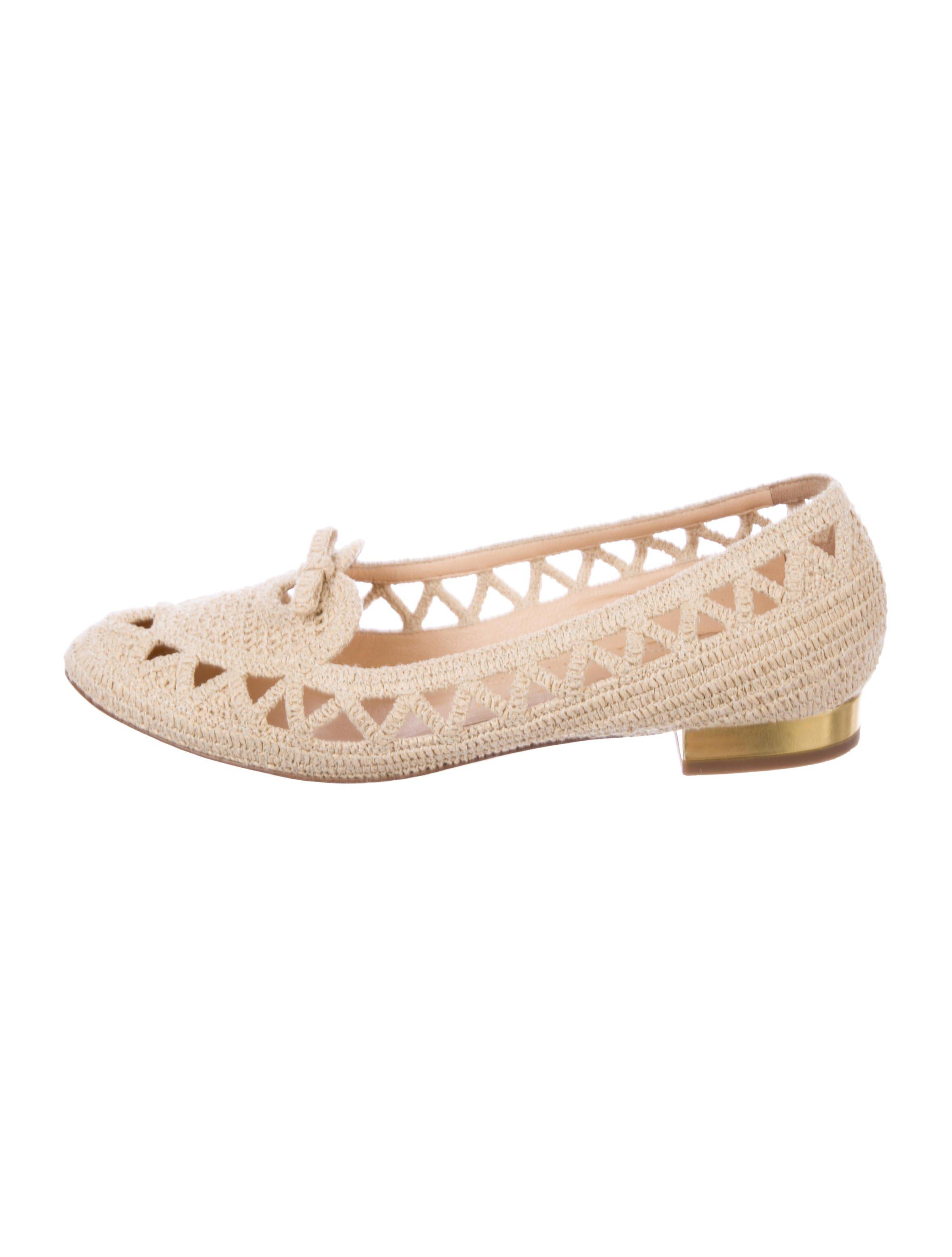 Charlotte Olympia Woven Round-Toe Loafers buy cheap largest supplier sale latest collections manchester great sale cheap online discount price 77mJcv