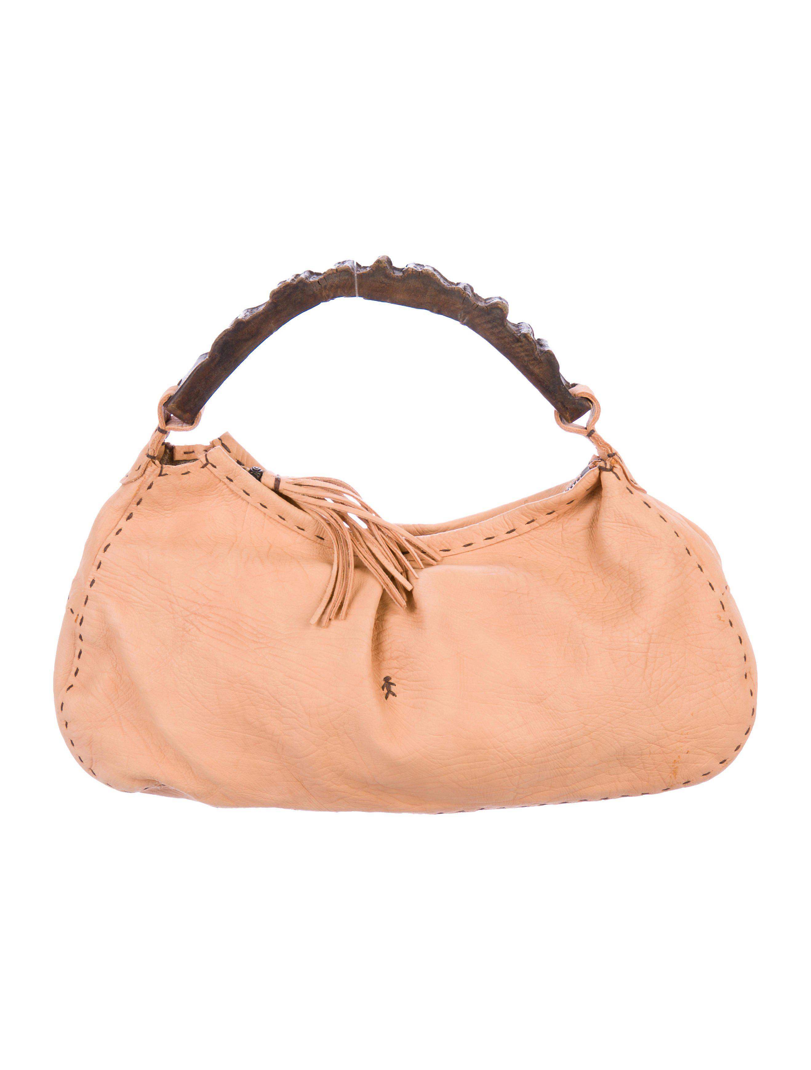 Lyst - Henry Beguelin Distressed Leather Handle Bag Gold in Metallic 94abfad8f8525