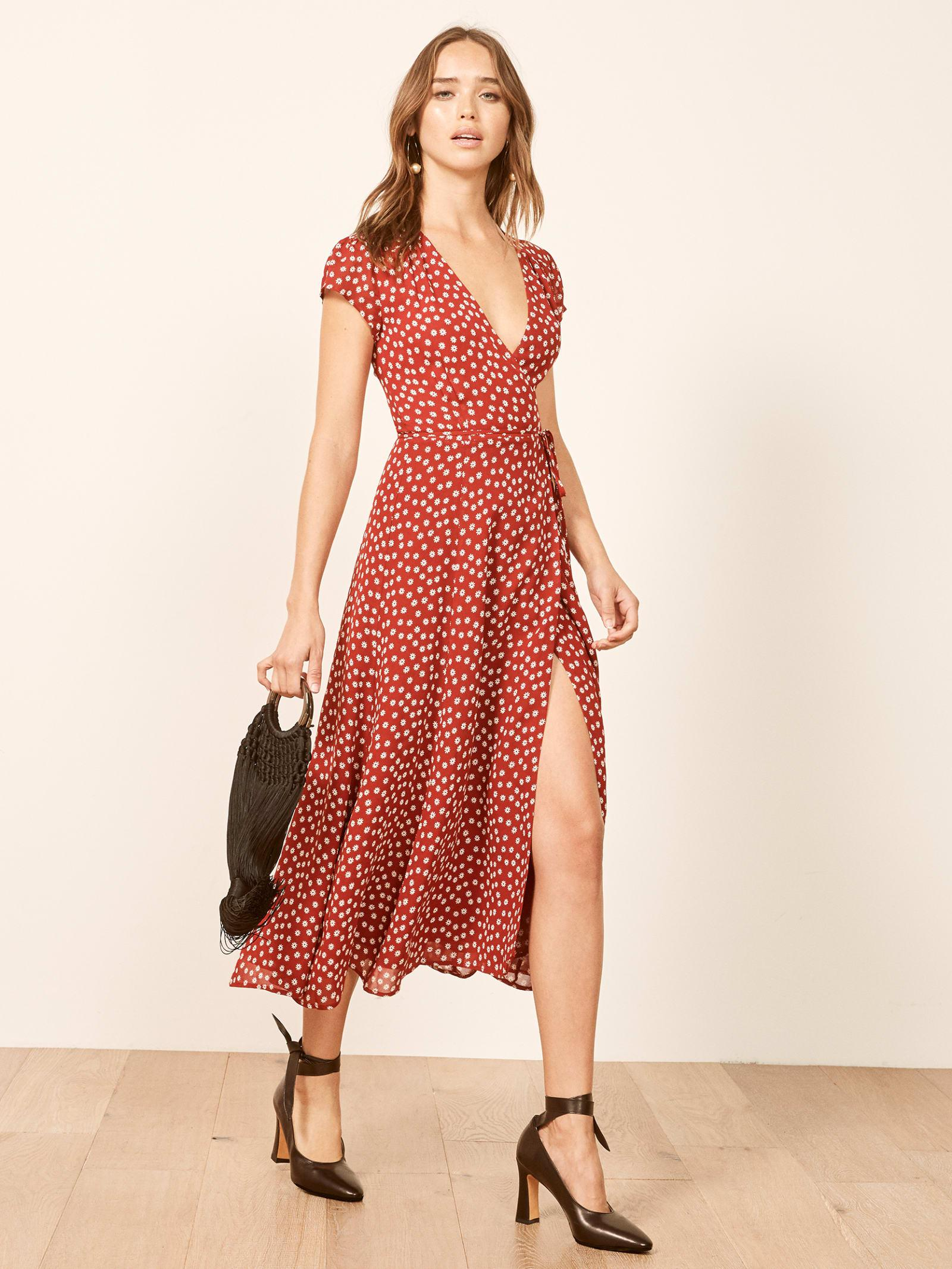 29c8f829a60 Reformation Petites Carina Dress in Red - Lyst