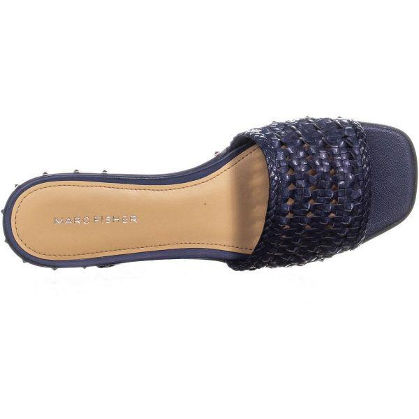 1fdfc222406a Lyst - Marc Fisher Jeremy Flat Slide Sandals in Blue - Save 13%