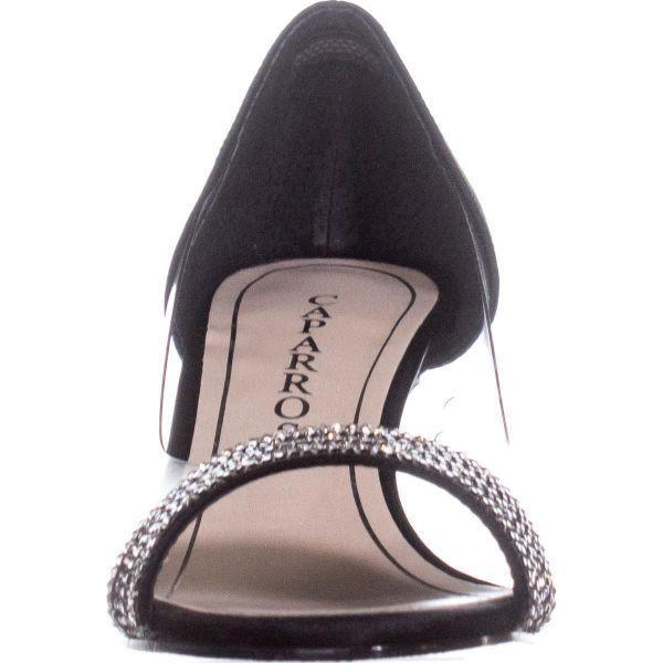 7938c2c0db Caparros Fancy Peep-toe Embellished Evening Pumps in Black - Save 13 ...