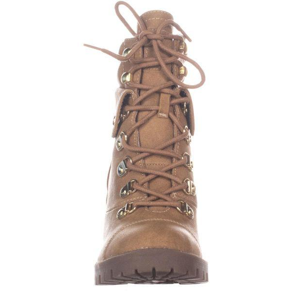 4368c4d4236 Lyst - Guess G By Jollyn Lace Up Ankle Boots in Natural