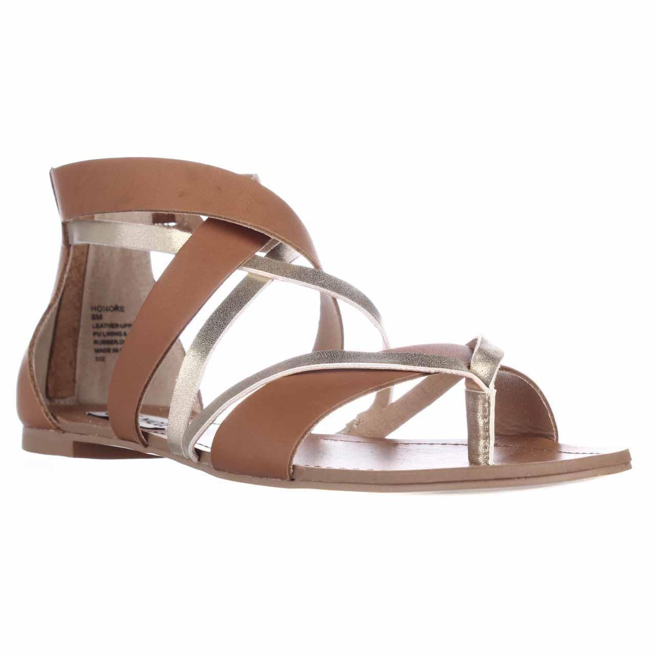 Steve Madden Honore Flat Gladiator Sandals In Brown Lyst
