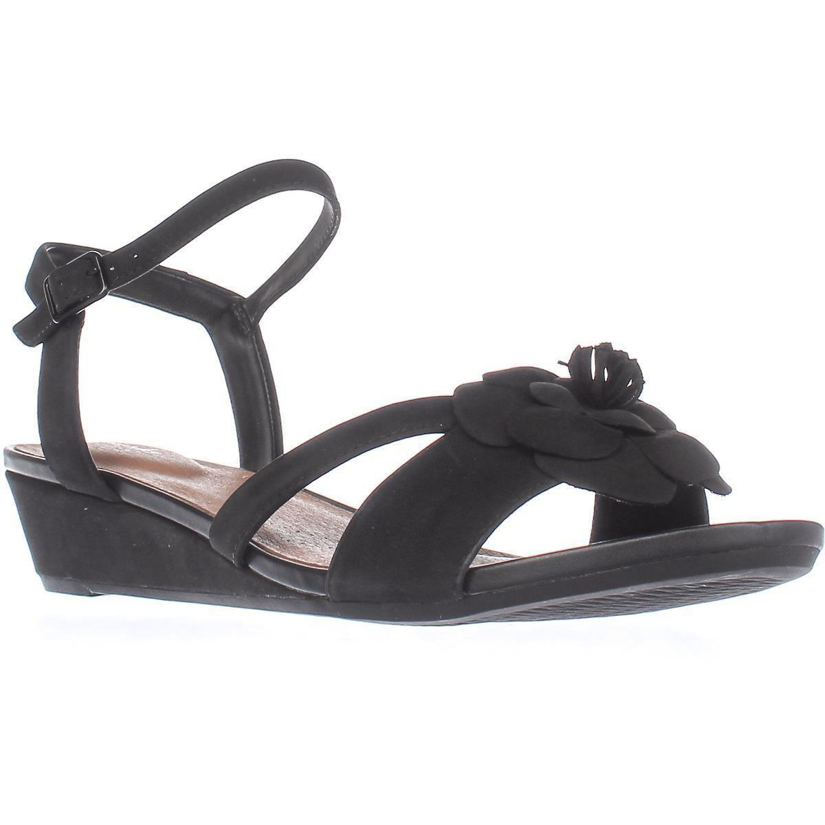 8f2f9dc1db9f Clarks Parram Stella Low-wedge Comfort Sandals in Black - Lyst