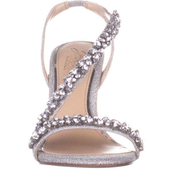 bbf05ef98fb Badgley Mischka - Metallic Jewel Java Heeled Sandals - Lyst. View fullscreen