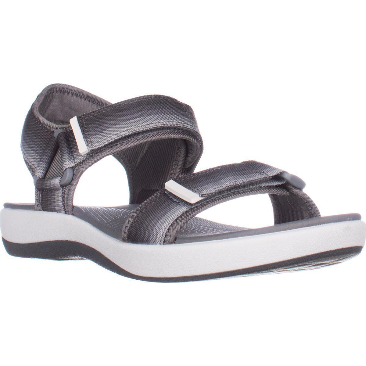 5fa0451f9d83 Clarks Brizo Ravena Cloudsteppers Flats Sandals - Grey in Gray - Lyst