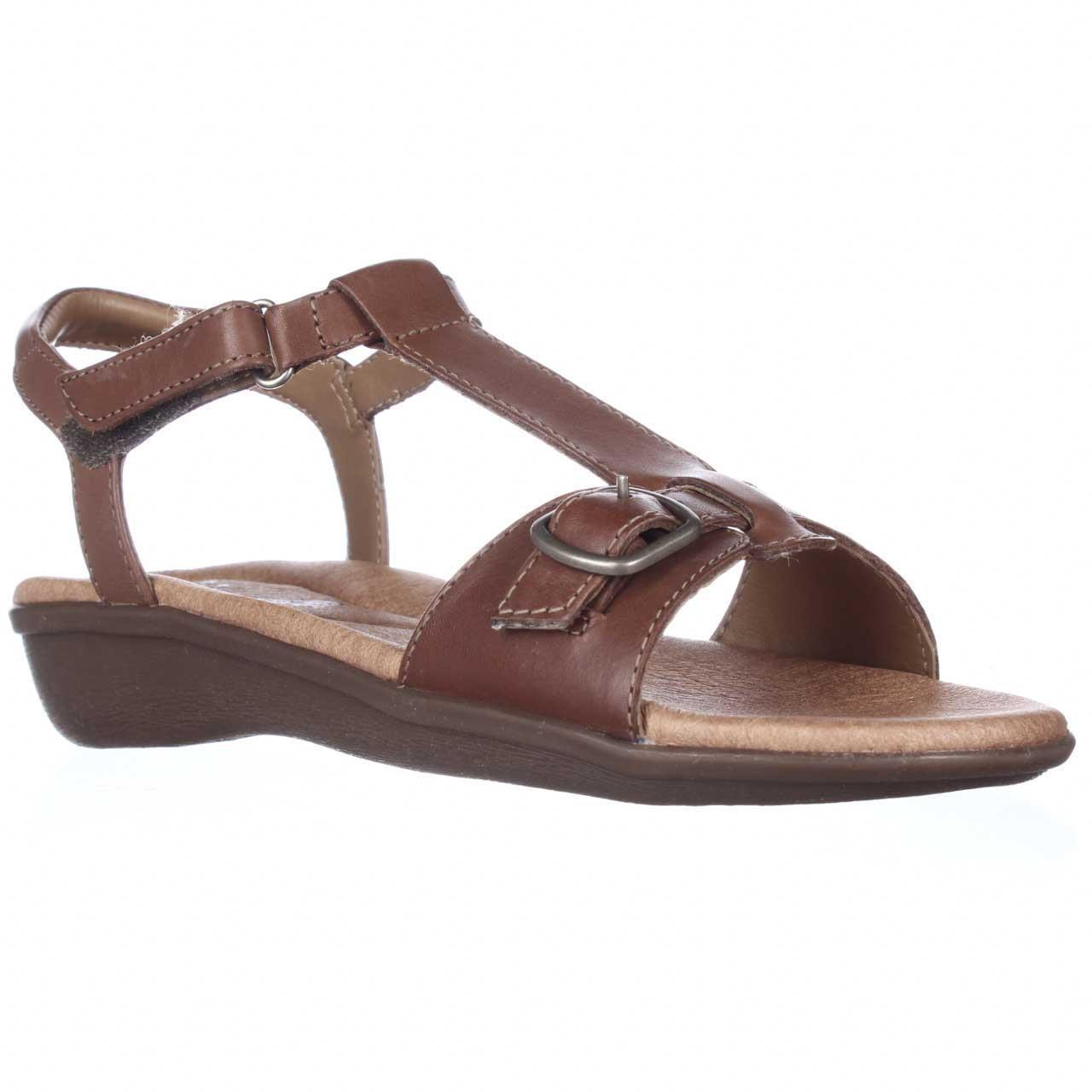 b775f0455 Lyst - Clarks Manilla Lift Comfort Ankle Strap Sandals in Brown