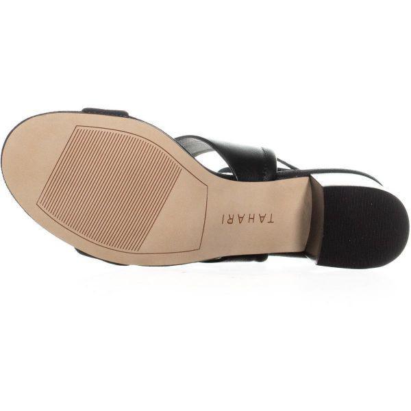 12e3a22712a Tahari - Black Doe Heeled Tie Up Sandals - Lyst. View fullscreen