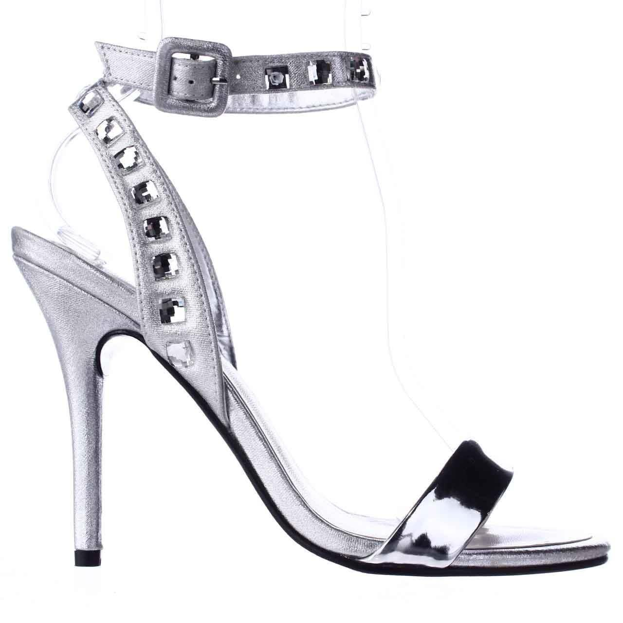 43bcf3b4cc1a Caparros - Cassidy Jeweled Ankle Strap Dres Sandals - Silver Metallic -  Lyst. View fullscreen
