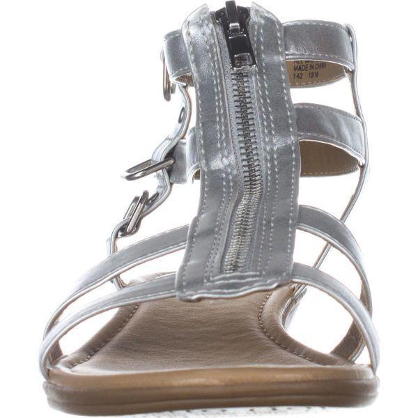 d9aad1ba8d53af Rialto - Metallic Gracia Front Zip Gladiator Sandals - Lyst. View fullscreen