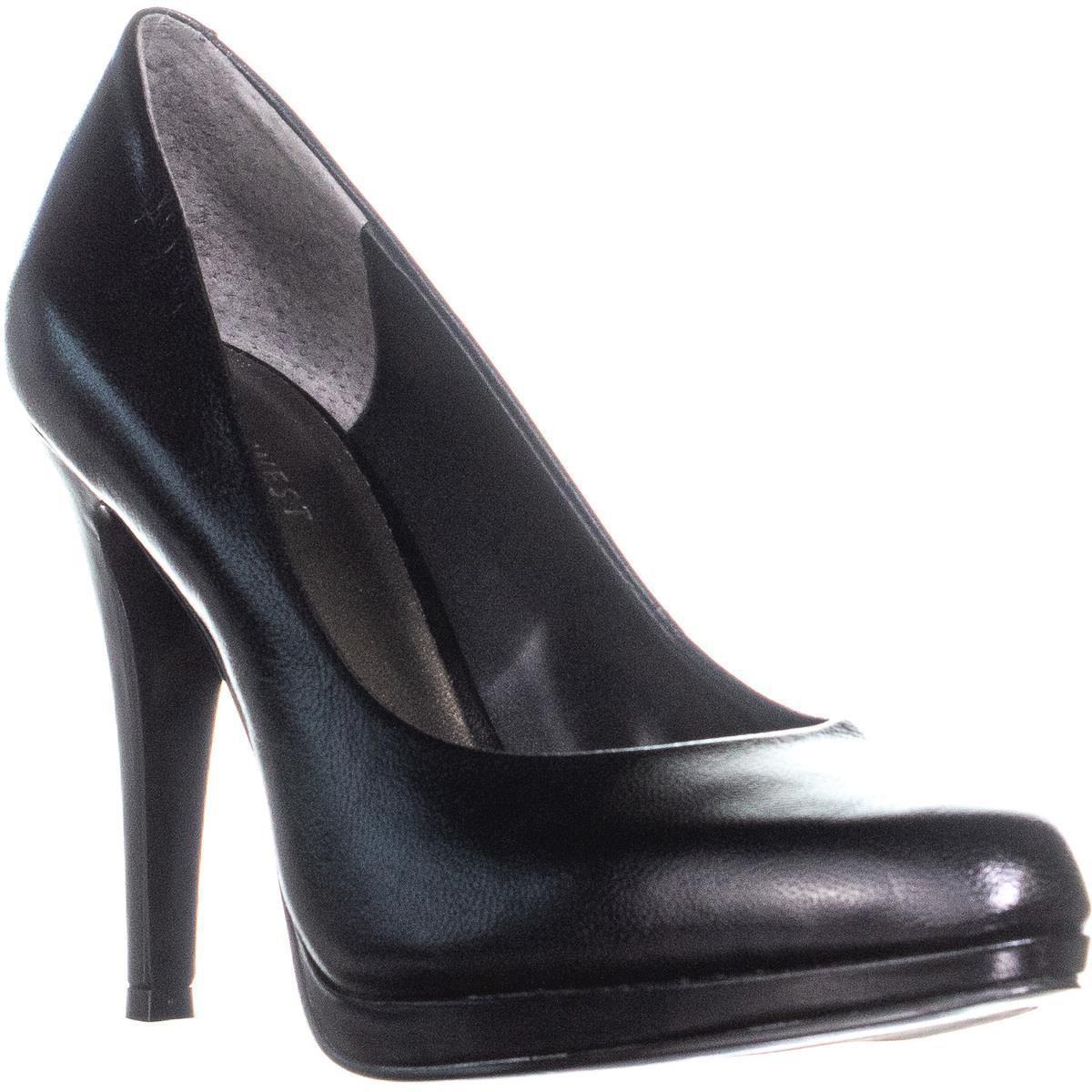 224dbb3143f Nine West Rocha Slip On Front Platform Classic Heels in Black - Lyst