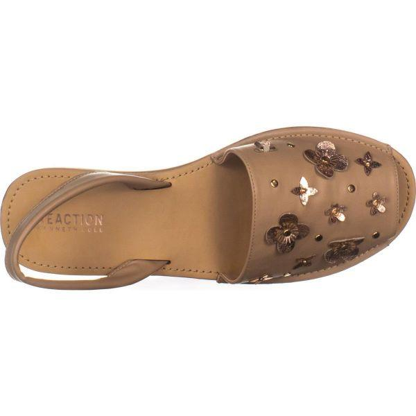 b1beeee66d4 Kenneth Cole - Natural Reaction Fine Glass Perforated Wedge Sandals - Lyst.  View fullscreen
