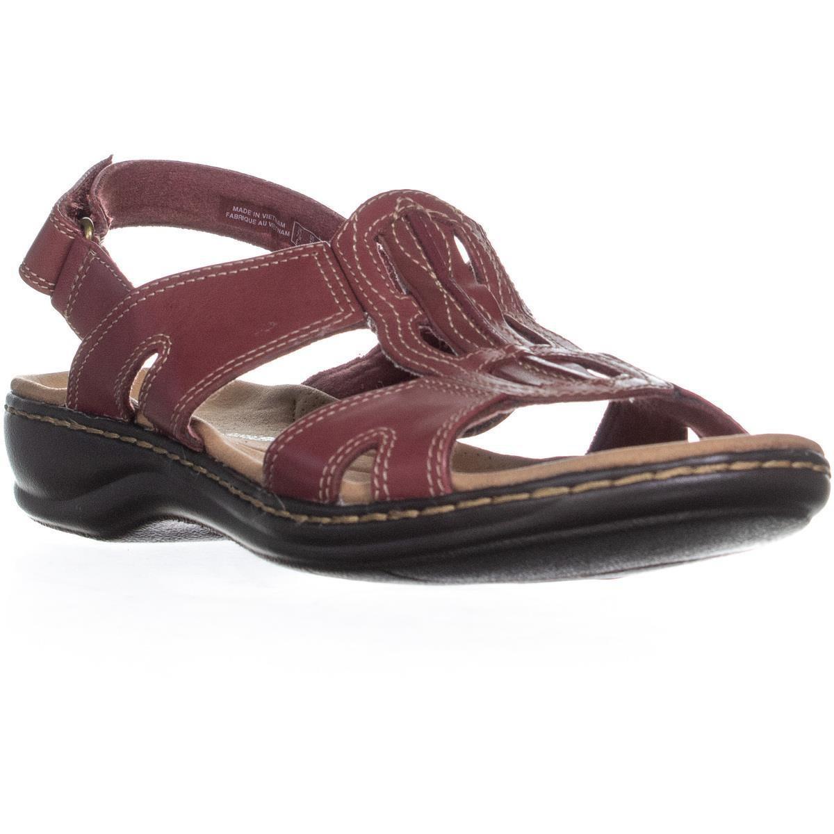 f1c5372f0731 Clarks Leisa Skip Low Wedge Velcro Strap Sandals - Lyst