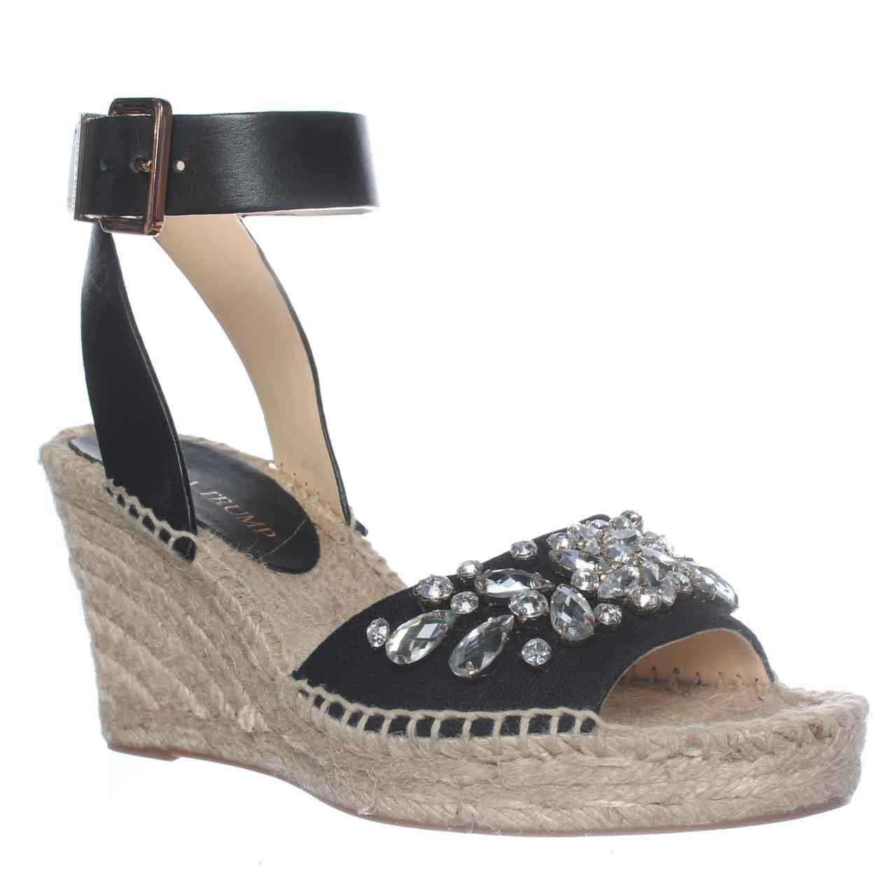 Ivanka Trump Dona3 Wedge Espadrille Ankle Strap Sandals In