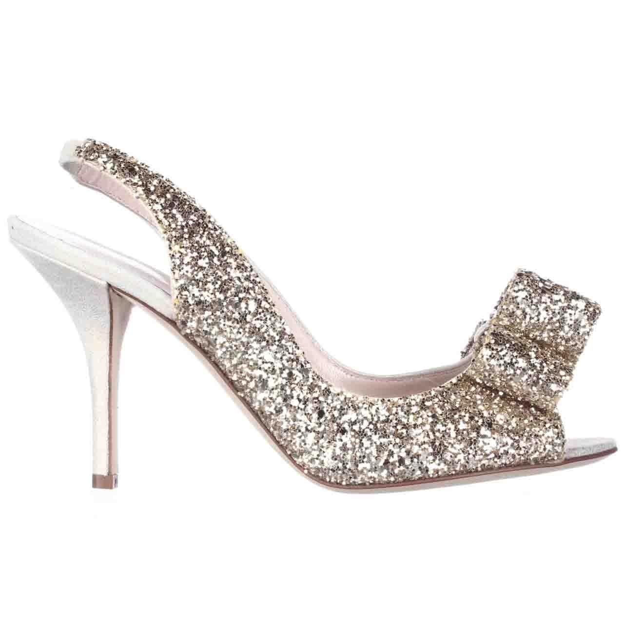 kate spade new york charm heel in metallic lyst