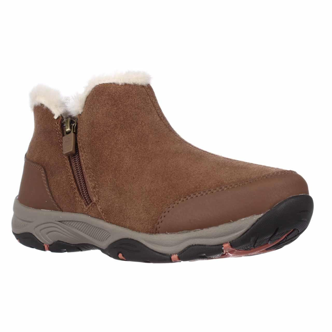 Easy Spirit Prisco Comfort Winter Ankle Boots In Brown Lyst