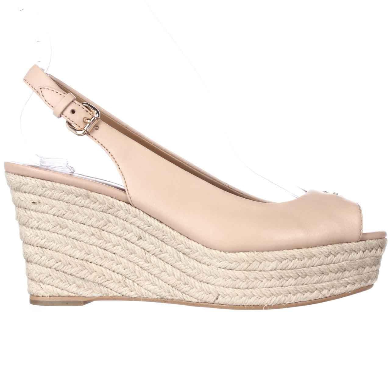 Coach Ferry Peep Toe Slingback Espadrille Wedge Sandals Lyst