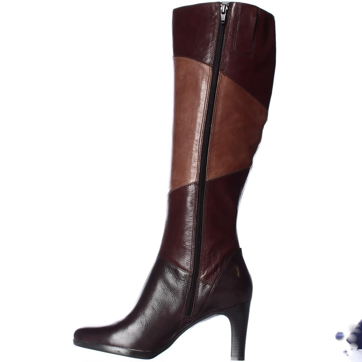 naturalizer analise knee high dress boots in brown lyst