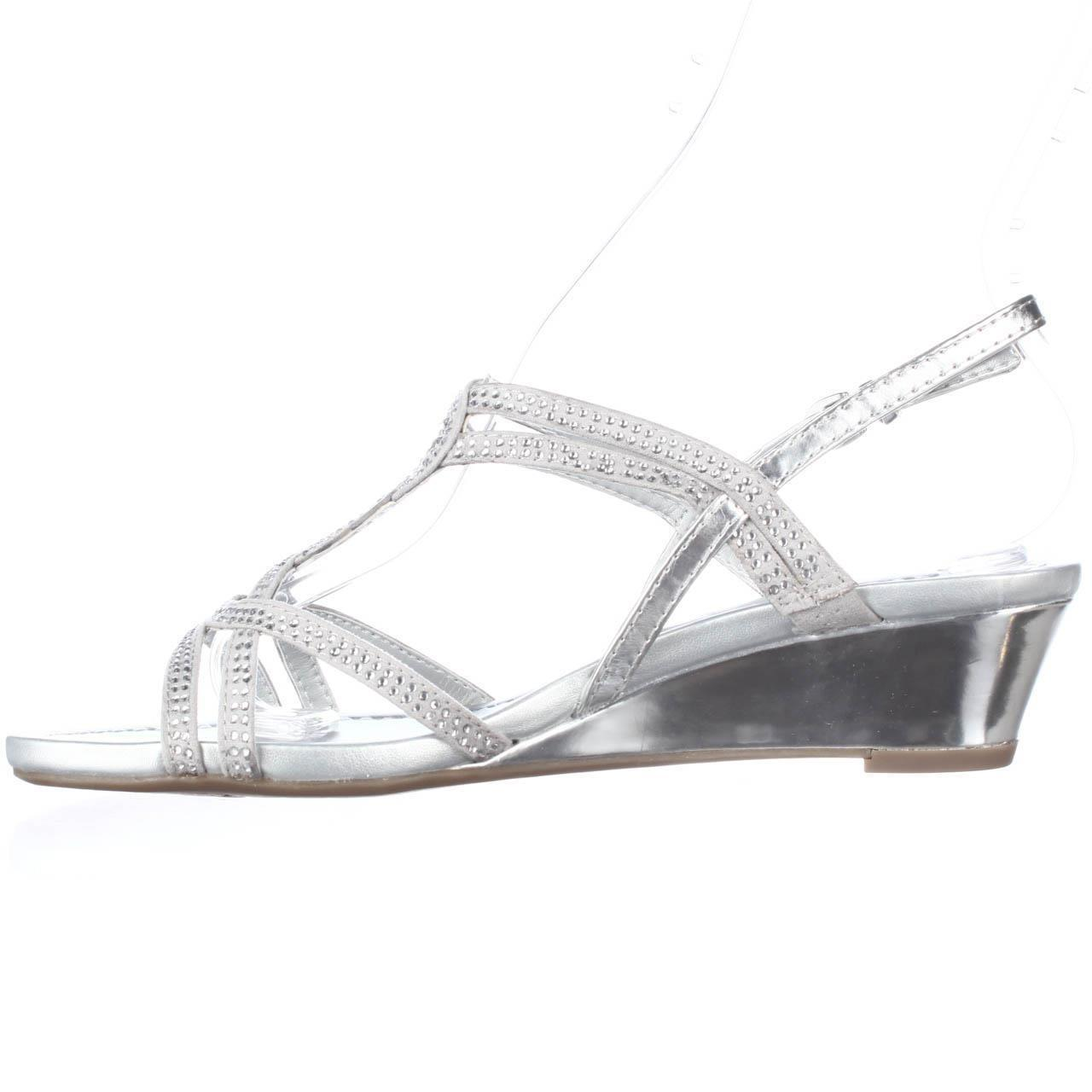 Lyst Bandolino Gilnora Wedge Dress Sandals In Metallic