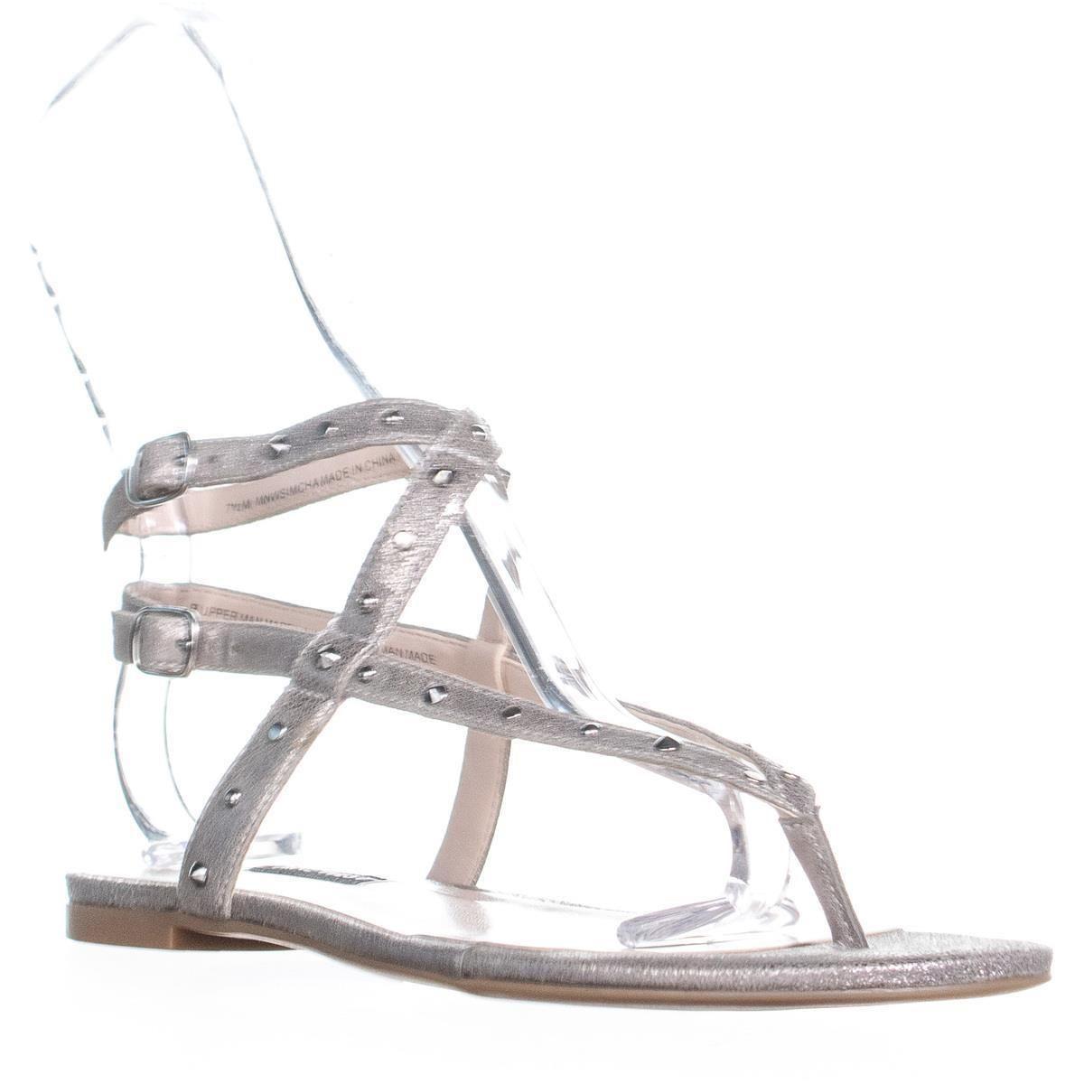 fc9865f03 Lyst - Nine West Simcha Flat Double Buckle Strap Sandals - Save 13%