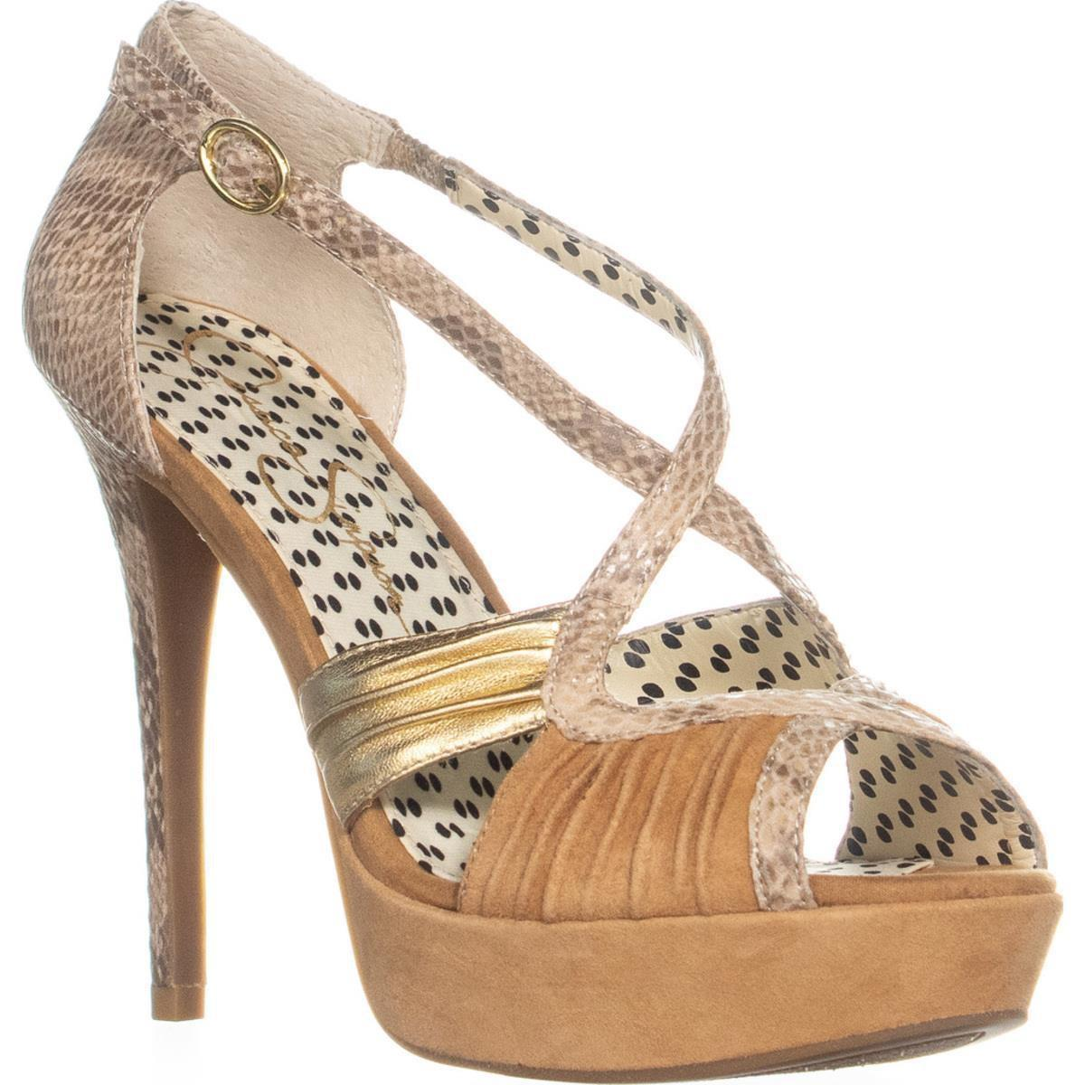 629cffb80aa Lyst - Jessica Simpson Brouge Ankle Strap Platform Pumps in Natural