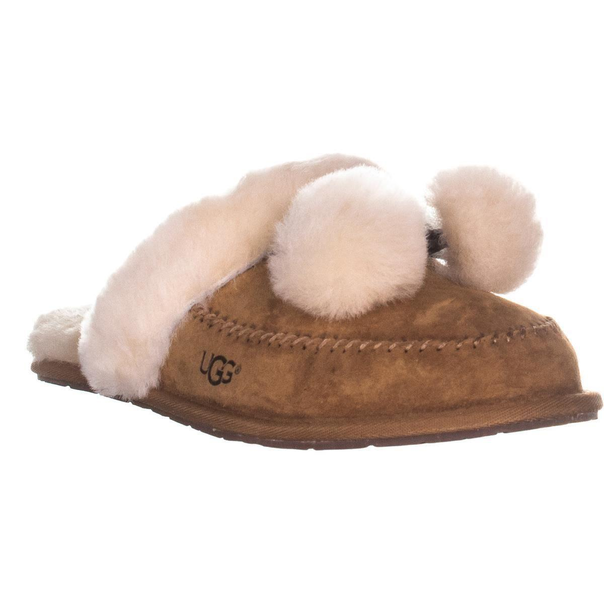 7859f25454d Lyst - UGG Hafnir Slide Pom Pom Slippers in Brown