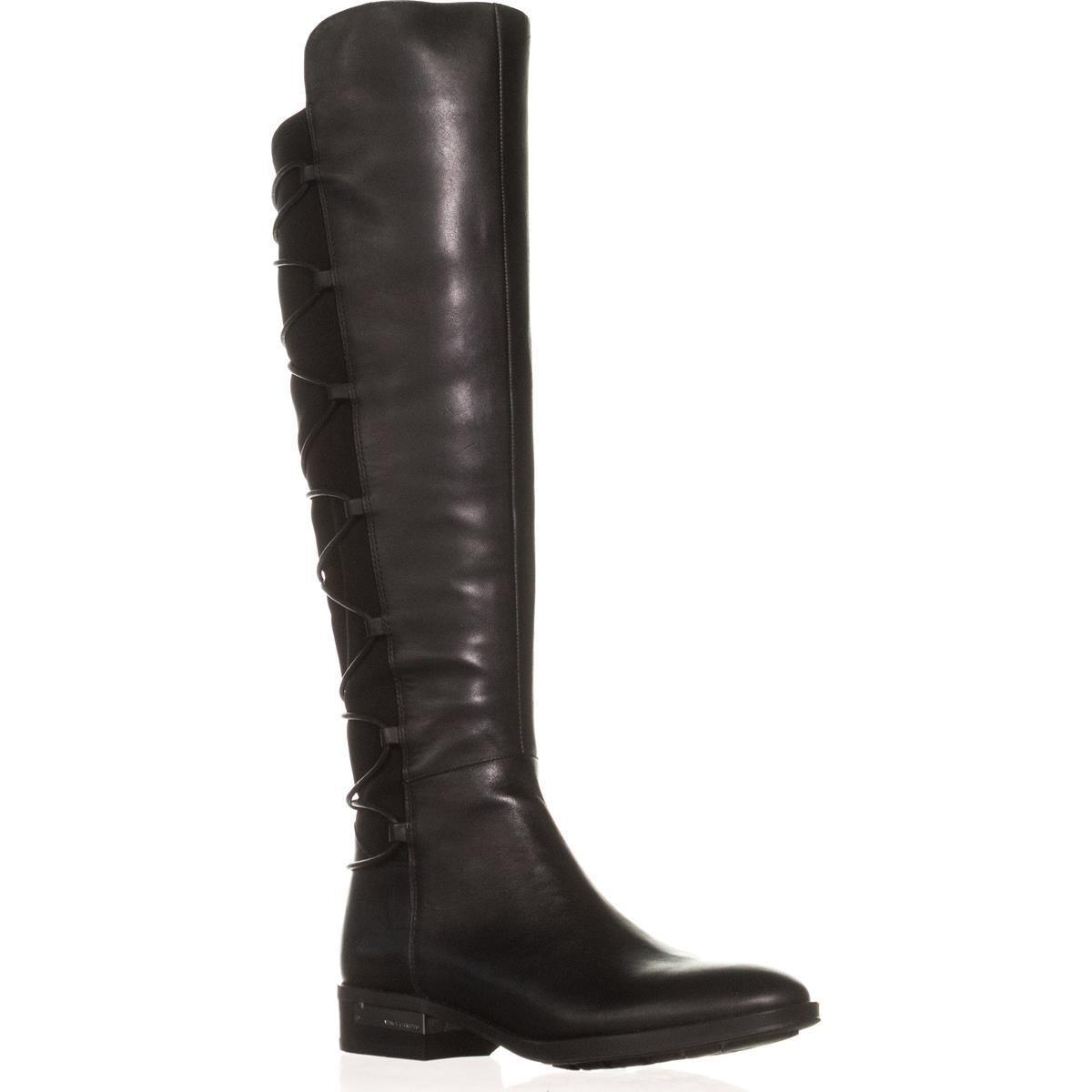 bc479bf7ba9 Lyst - Vince Camuto Parle Back Lace Up Tall Boots in Black
