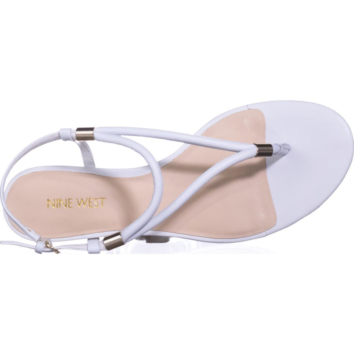 5bf7a8c96d0b49 Nine West - White Rivers T-strap Sandals - Lyst. View fullscreen