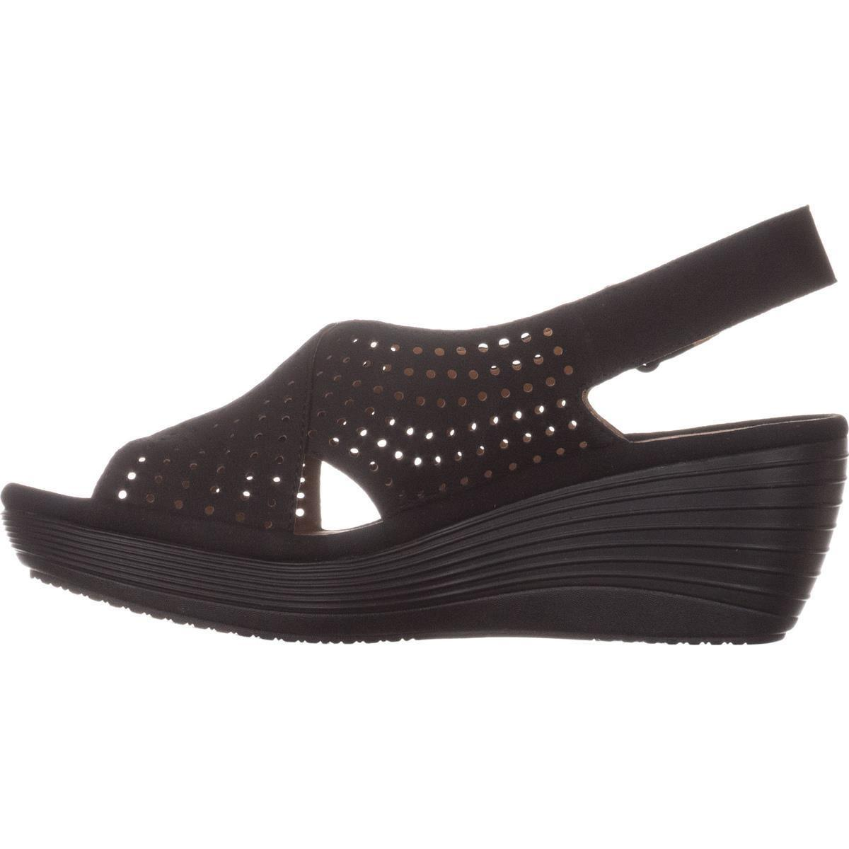 aa008f4d872 Lyst - Clarks Reedly Variel Wedge Sandals in Black
