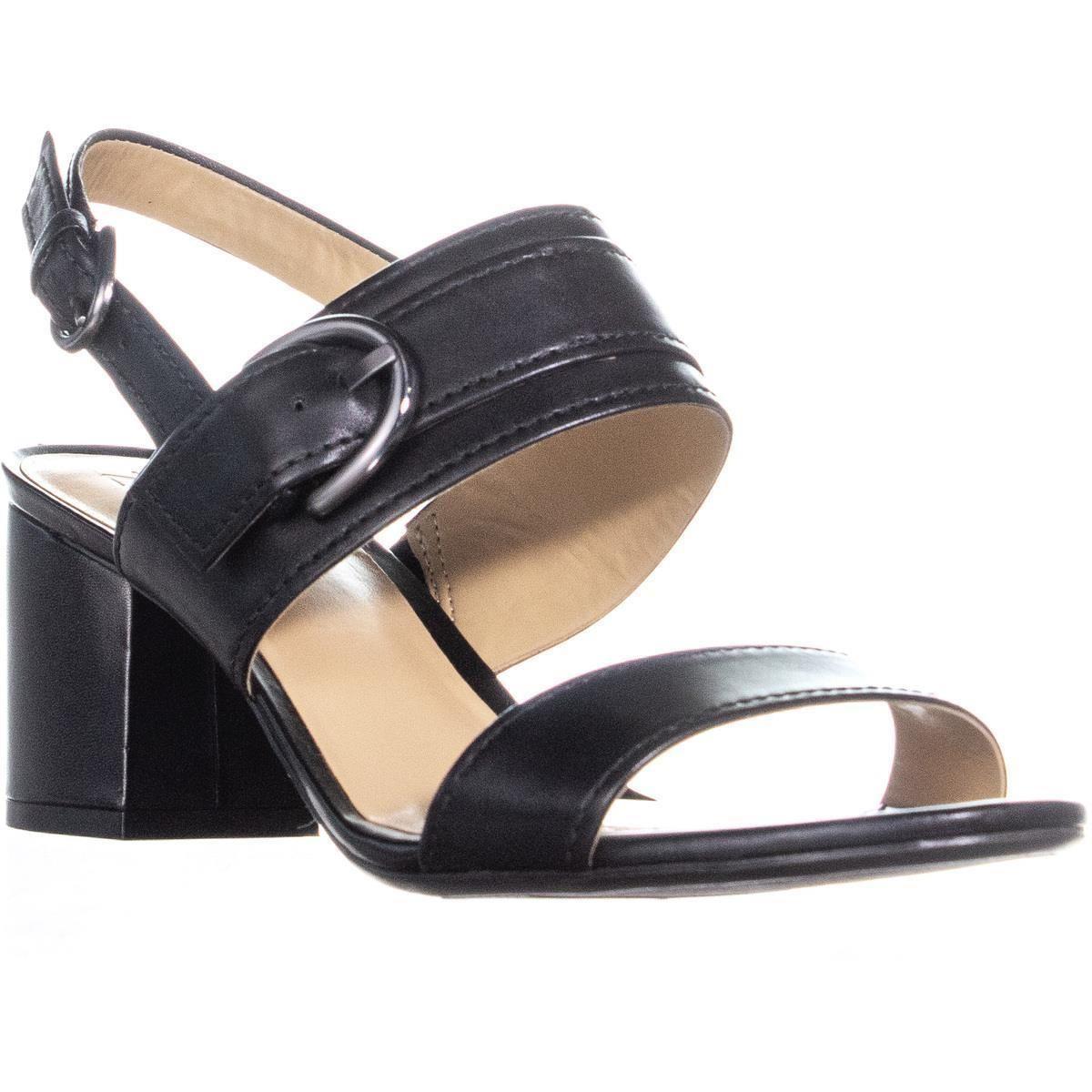 9ad5bdaf4670 Lyst - Naturalizer Camden Ankle Strap Block Heel Sandals in Black