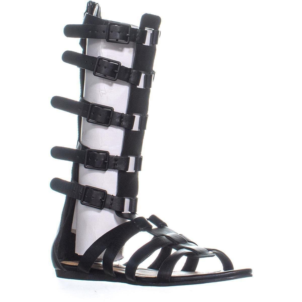 e3febcd0240 Lyst - Kensie Stellar Gladiator Sandals in Black - Save 13%