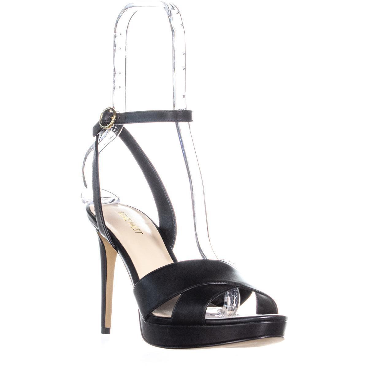 ee1d78b2bba Nine West Quisha Criss Cross Ankle Strap Sandals in Black - Lyst