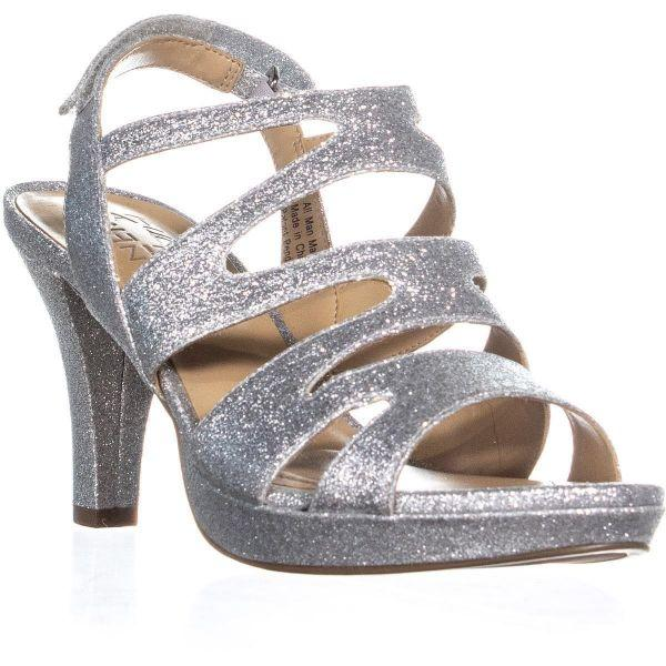 1e8facb1600 Lyst - Naturalizer Pressley Platform Strappy Dress Sandals in Metallic