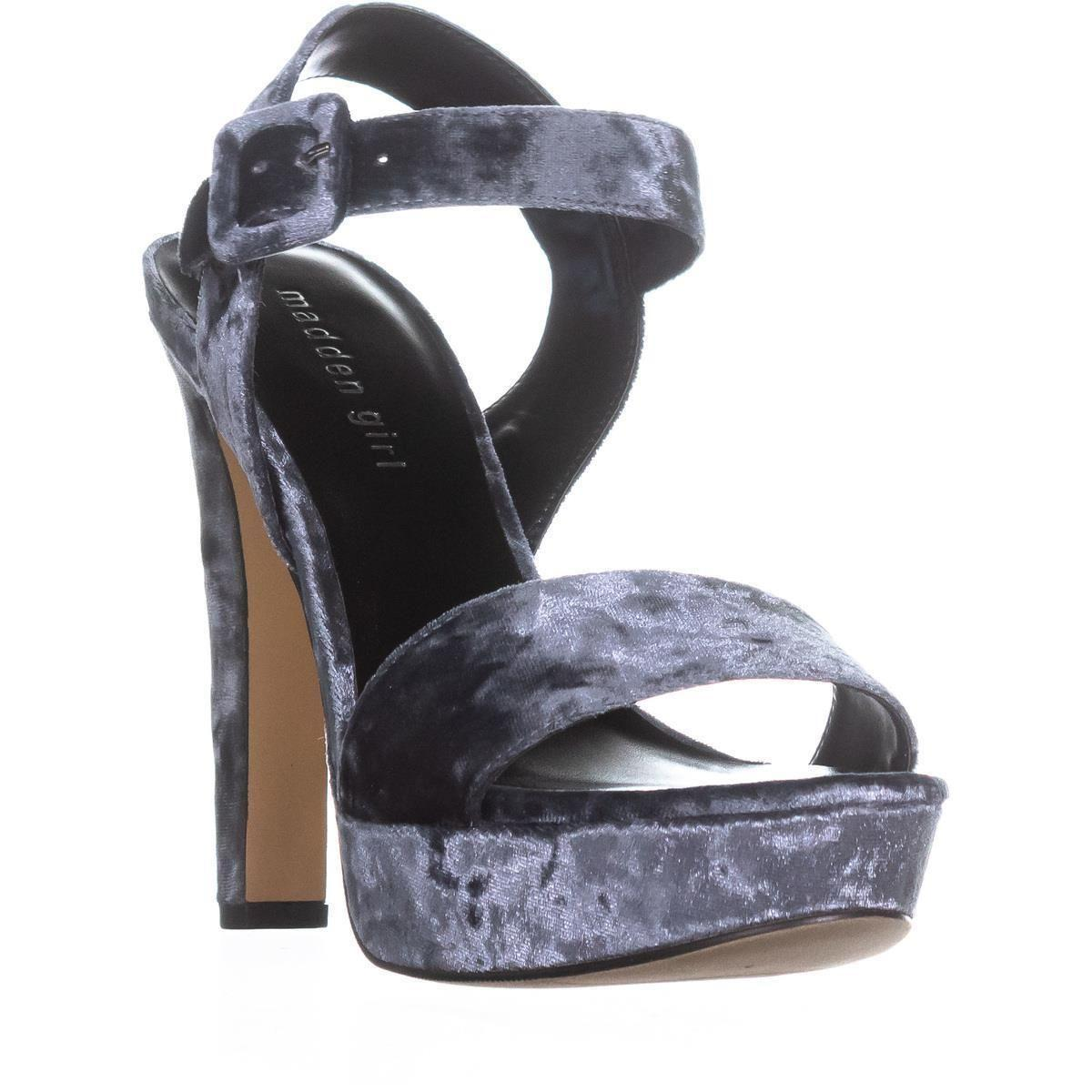 4d4f715494e Lyst - Madden Girl Rolloo Heeled Sandal in Gray - Save 55%