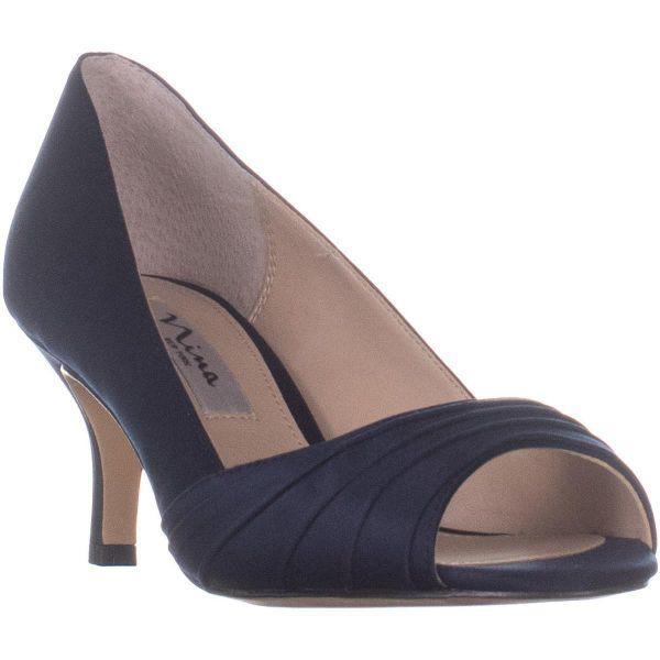 71b80e69b24e Lyst - Nina Chezare Peep Toe Heels in Blue
