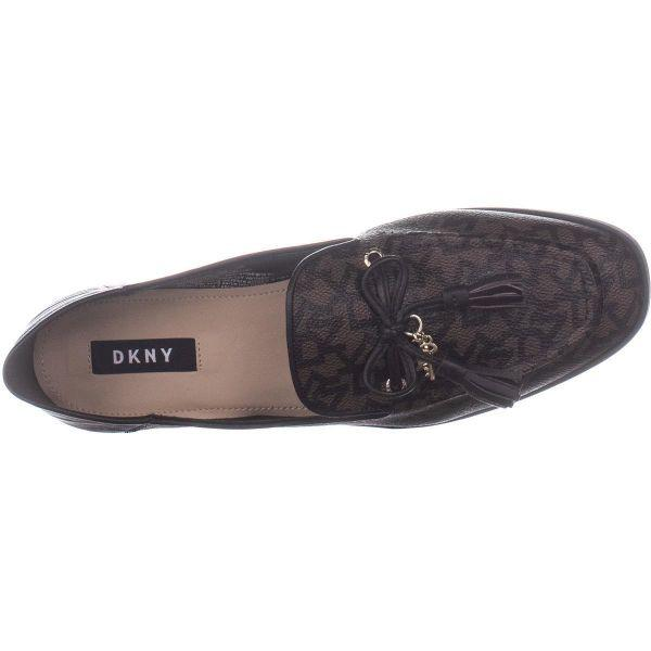 dcc8ff76cfe Lyst - DKNY Laura Mocassin Shoes in Brown