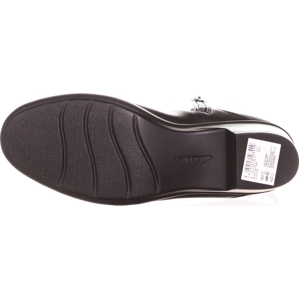 9c27d1720727 Clarks Malia Skylar Wide Calf Riding Boots in Black - Lyst