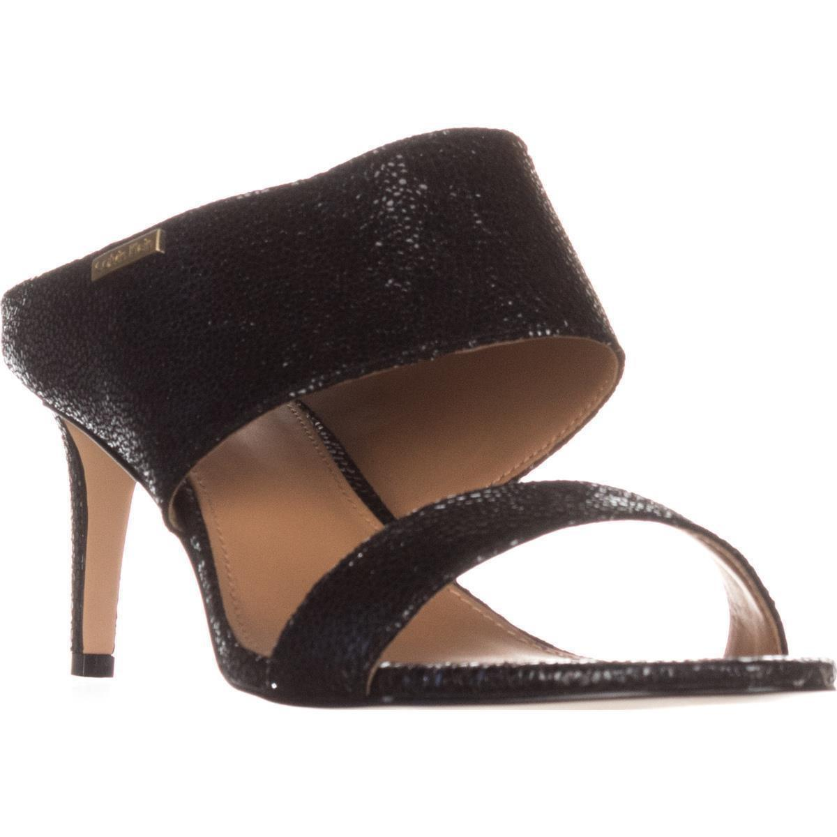 05a4e085c1c Lyst - Calvin Klein 205W39Nyc Cecily Wide-strap Mule Sandals in Black