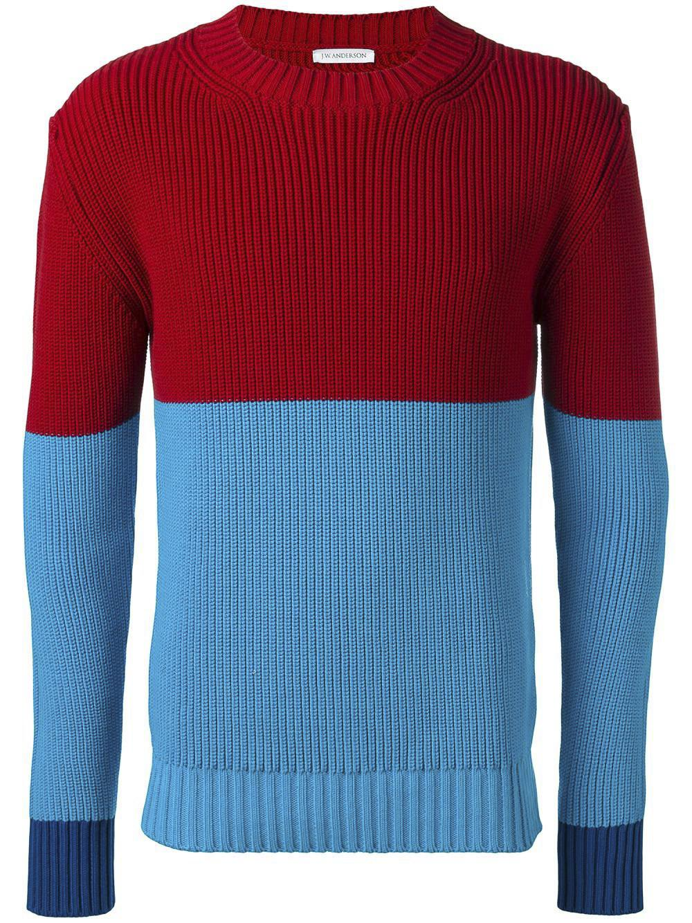 e10f28610 Lyst - J.W. Anderson Colour Block Jumper in Blue for Men