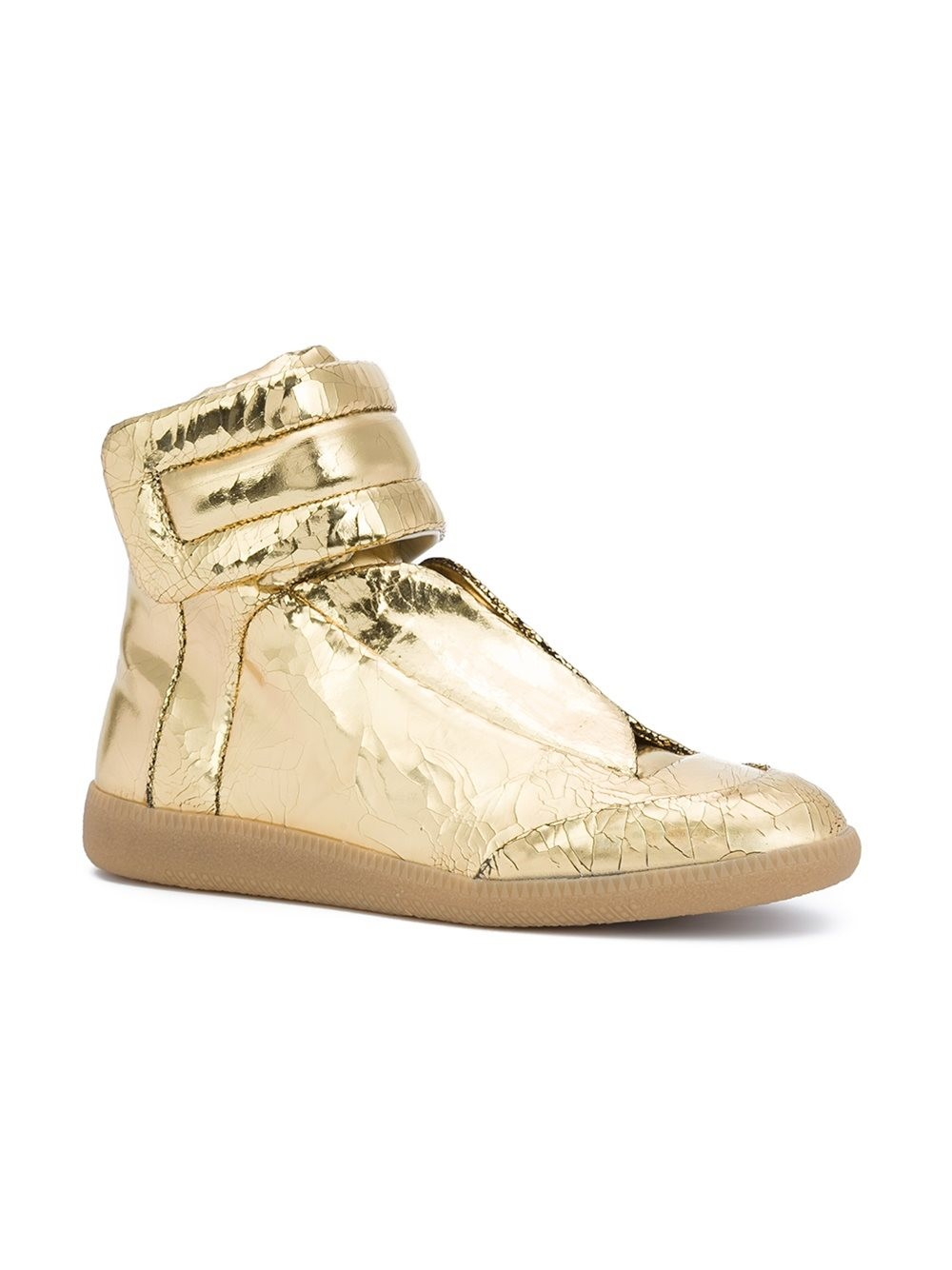 maison margiela future leather high top sneakers in metallic for men lyst. Black Bedroom Furniture Sets. Home Design Ideas
