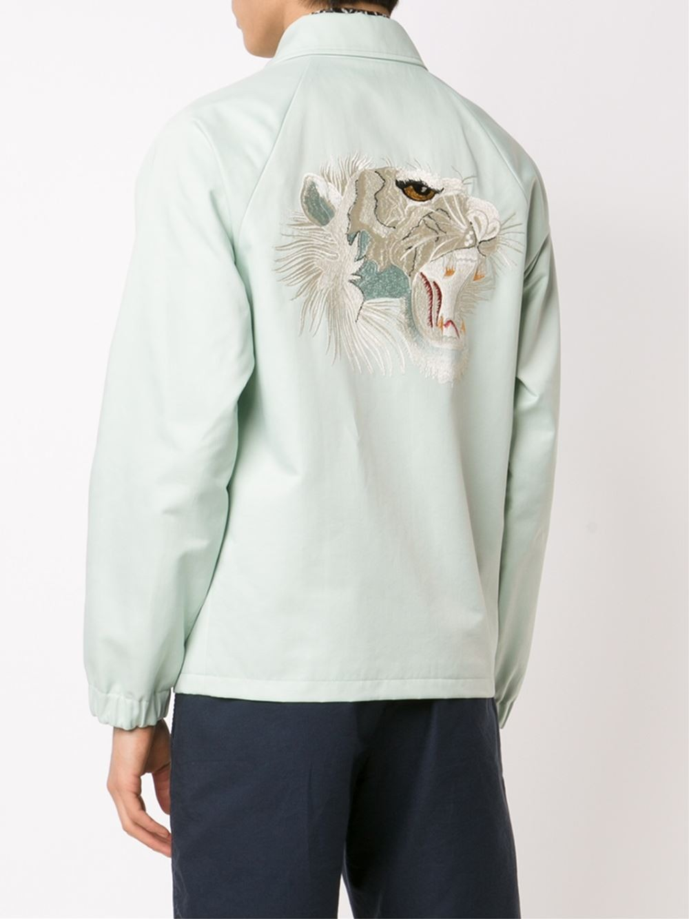 Marc Jacobs Embroidered Back Jacket In White For Men  Lyst