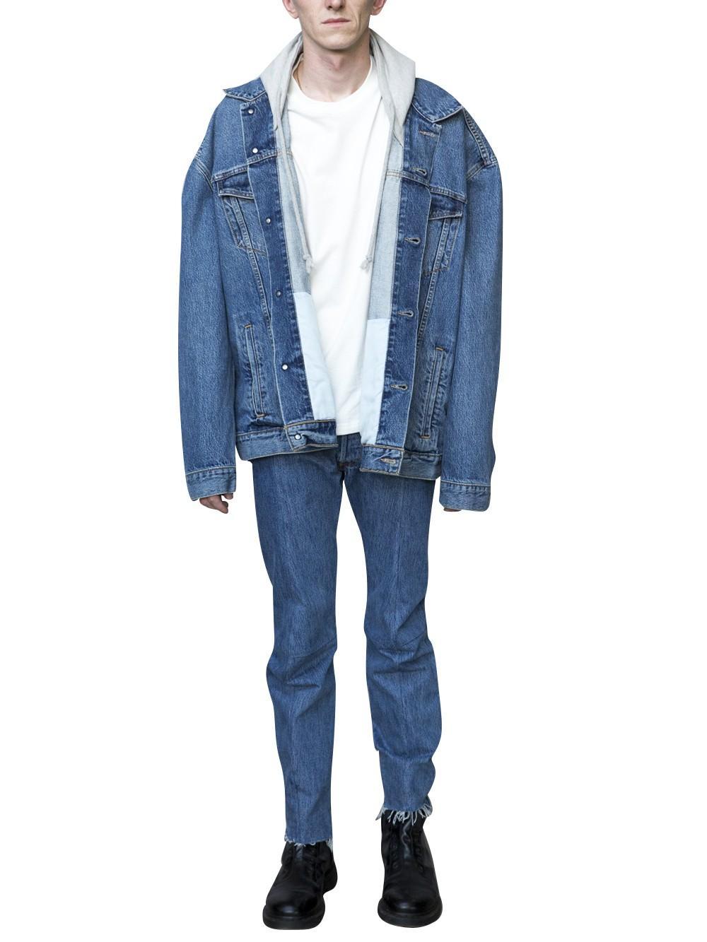 Vetements X Levis Denim Jacket in Blue for Men