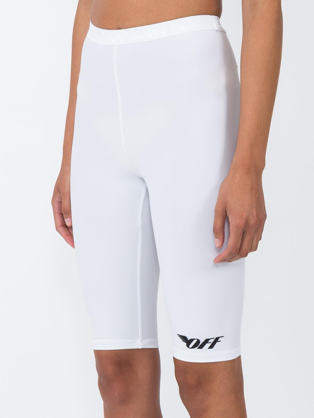 73cf234ed Lyst - Off-White c o Virgil Abloh Basic Cycling Pants in White