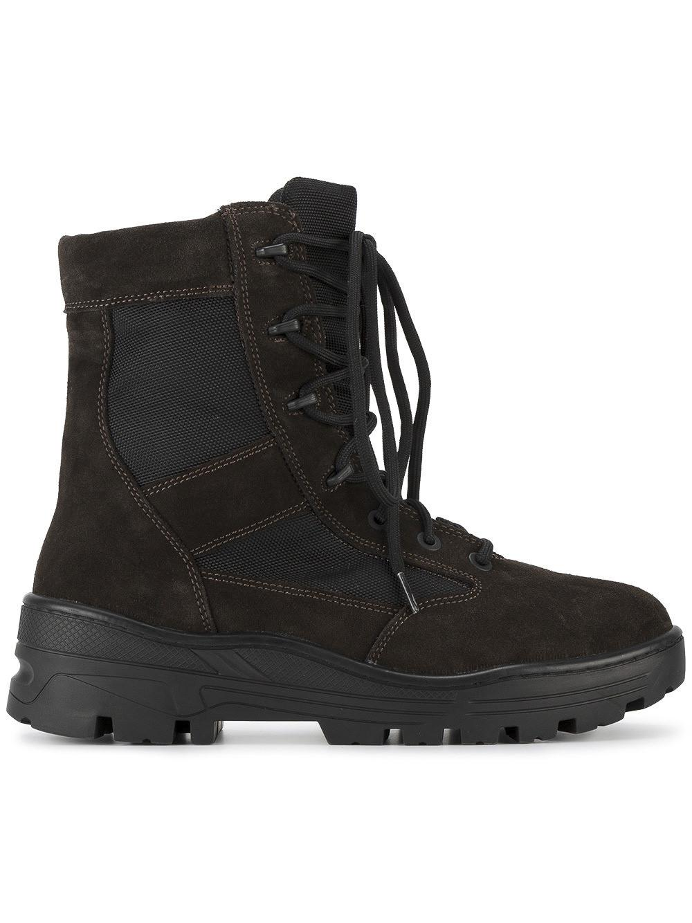 3ad695795f7f6 Yeezy Lace Up Combat Boots in Black for Men - Save 3% - Lyst