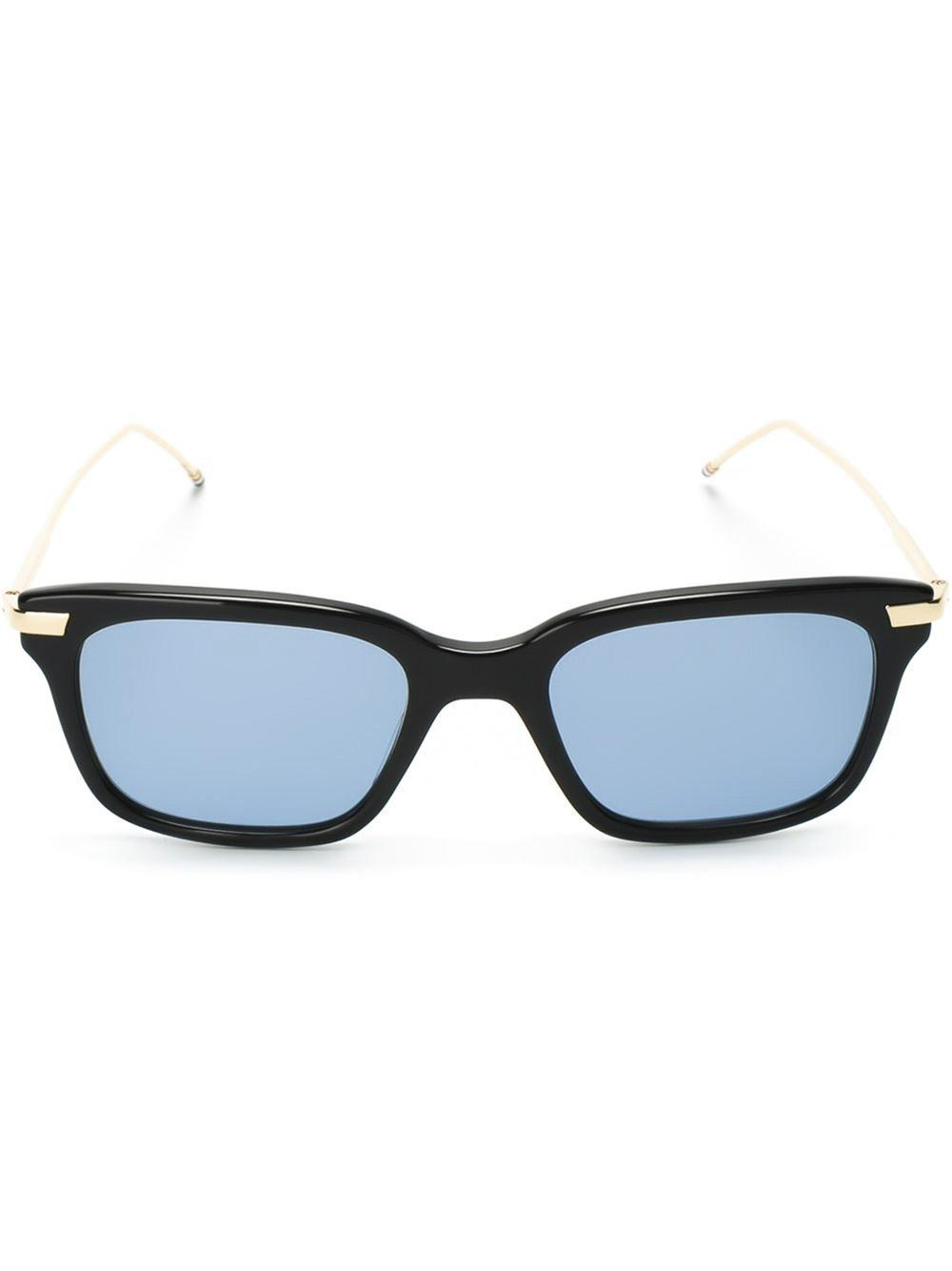 7a53b37698a Thom Browne Square Frame Sunglasses in Blue for Men - Lyst