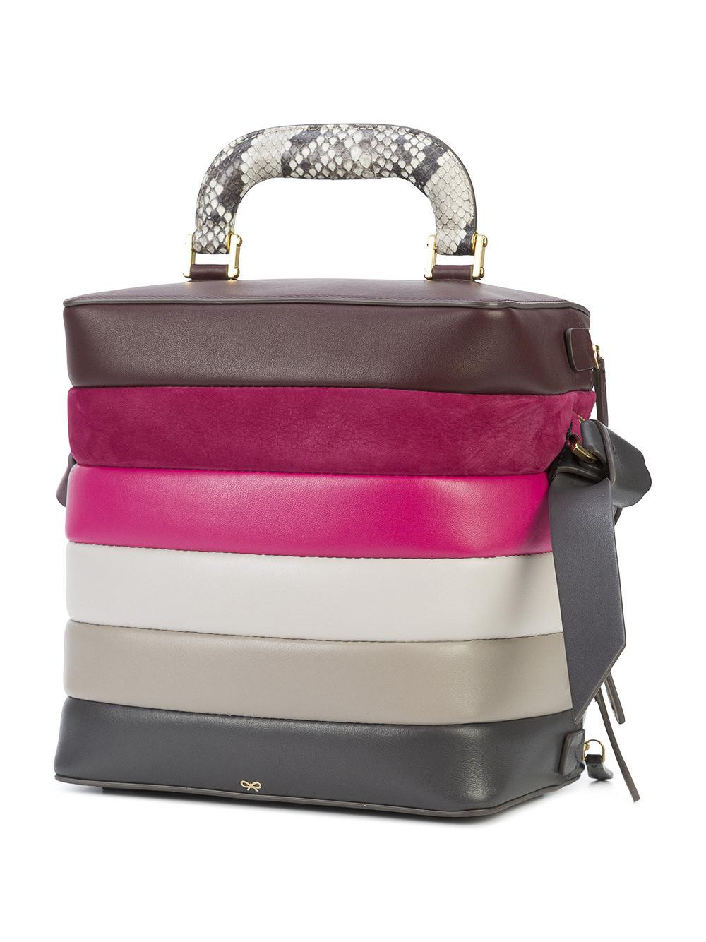 Anya Hindmarch Sac Stack six zip qDeb4PNlt