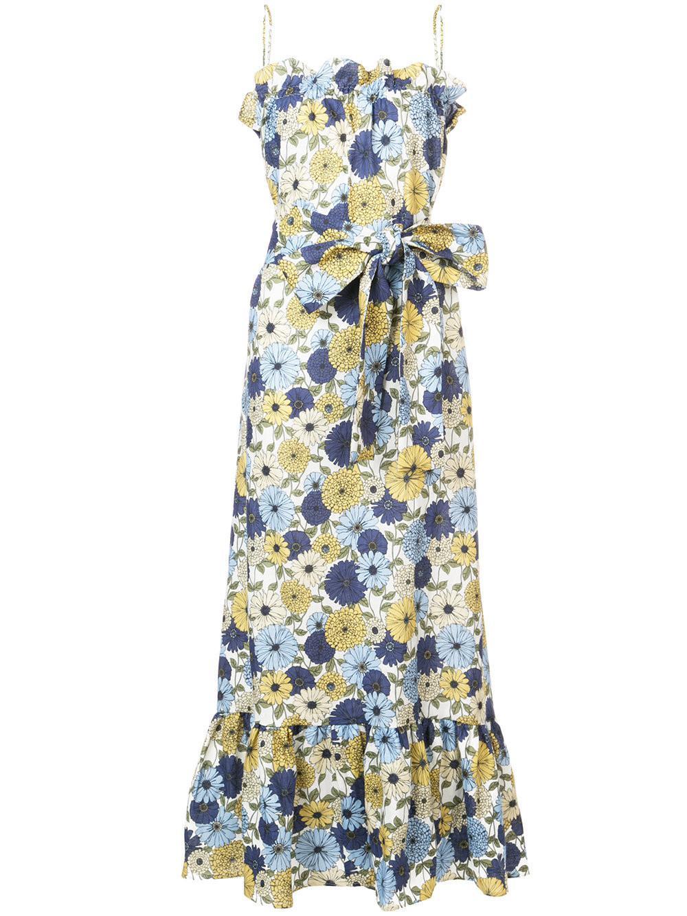 floral print maxi dress - Blue Lisa Marie Fernandez Cx6bfcLiLd