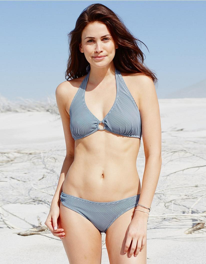 74dfc598d10b1 Lyst - The White Company Mini Stripe Bikini Bottoms in Blue