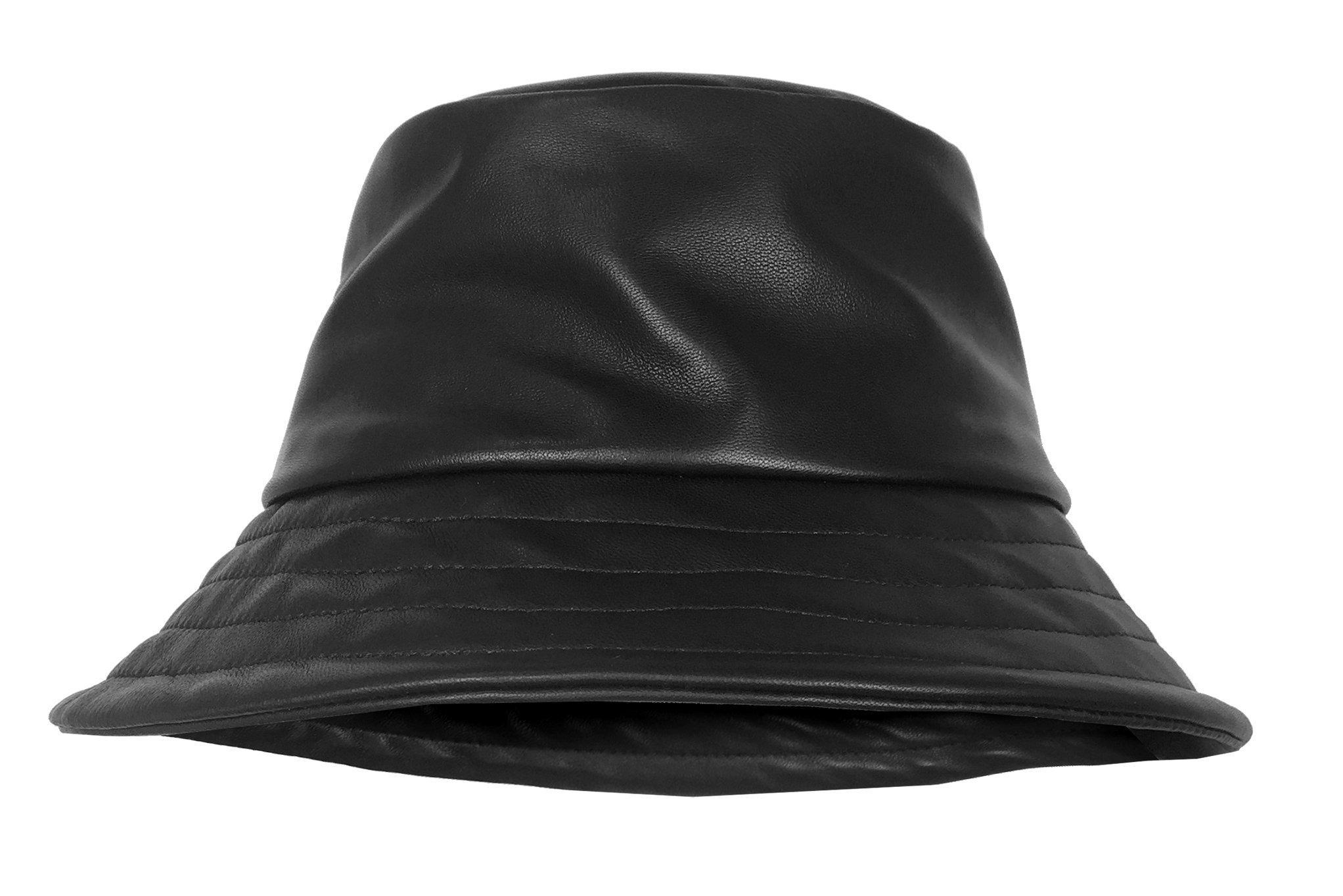 52c4564f4c9eca ... Ginger Leather Bucket Hat - Lyst. View fullscreen