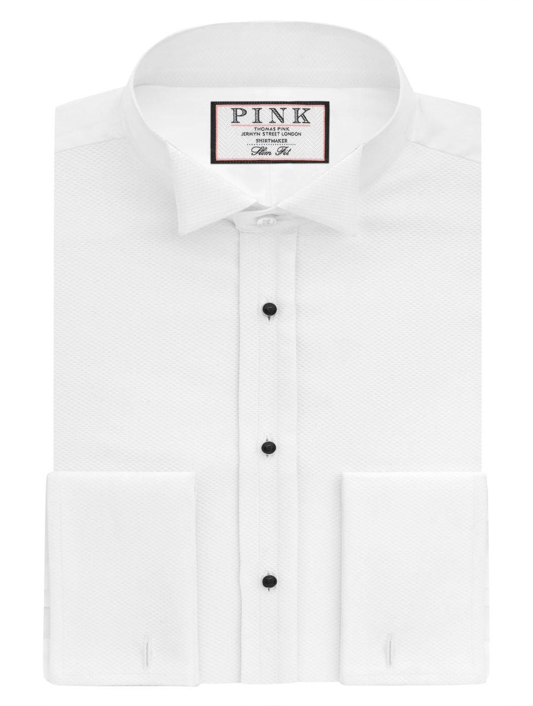 Lyst Thomas Pink Marcella Wing Evening Slim Fit Double Cuff Shirt